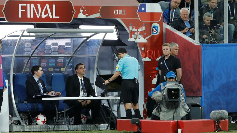 The VARs did need to be used in the 2017 Confederations Cup final by referee Milorad Mazic