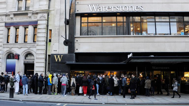 David Beckham fans queue outside Waterstones in Piccadilly before he meets fans and signs copies of his new self titled book at Waterstone's, Piccadilly on December 19, 2013 in London, England.