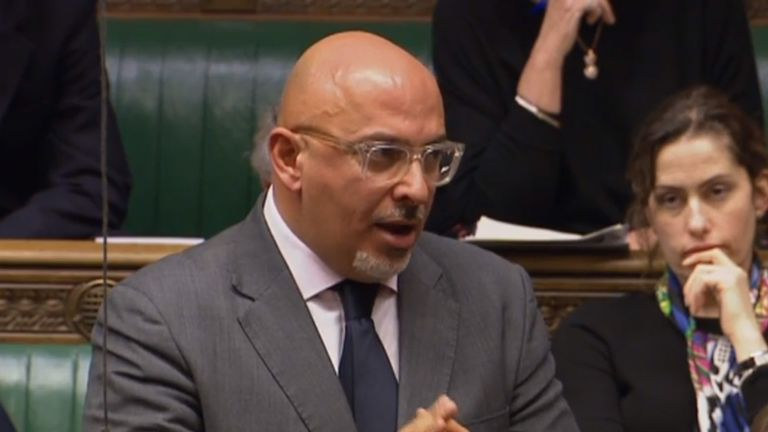 Conservative MP Nadhim Zahawi speaking in the House of Commons