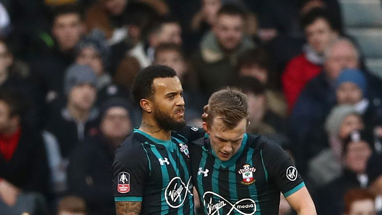 James Ward-Prowse put Southampton ahead in the first half