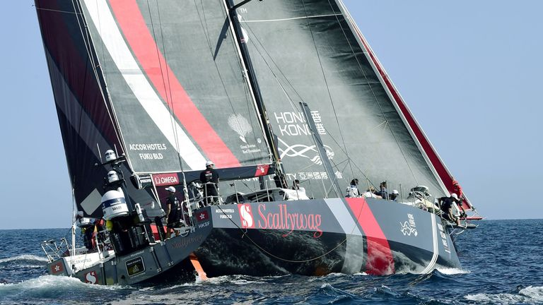 Sun Hung Kai-Scallywag boat taking part in Volvo Ocean Race
