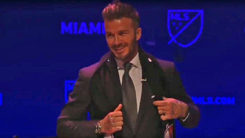 David Beckham at the media conference