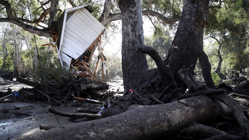 The devastation caused by deadly mudslides in Montecito, California