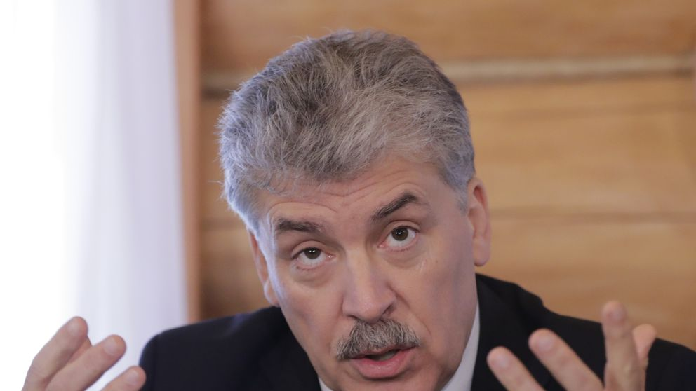 Pavel Grudinin, the Russian Communist Party' candidate in the country's presidential election