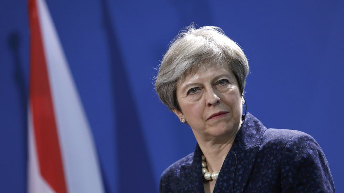 Theresa May is due to speak about security in Munich