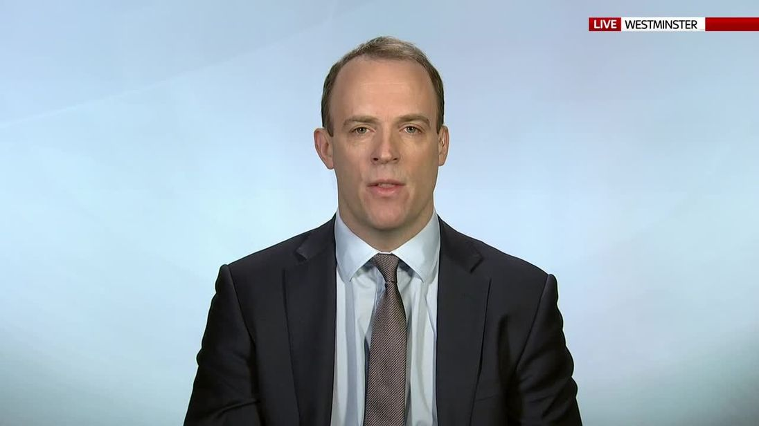 Housing minister, Dominic Raab