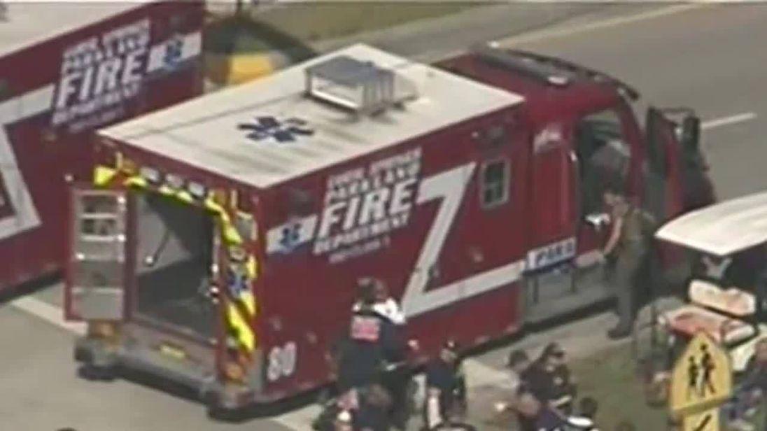 People treated at scene of Florida school shooting