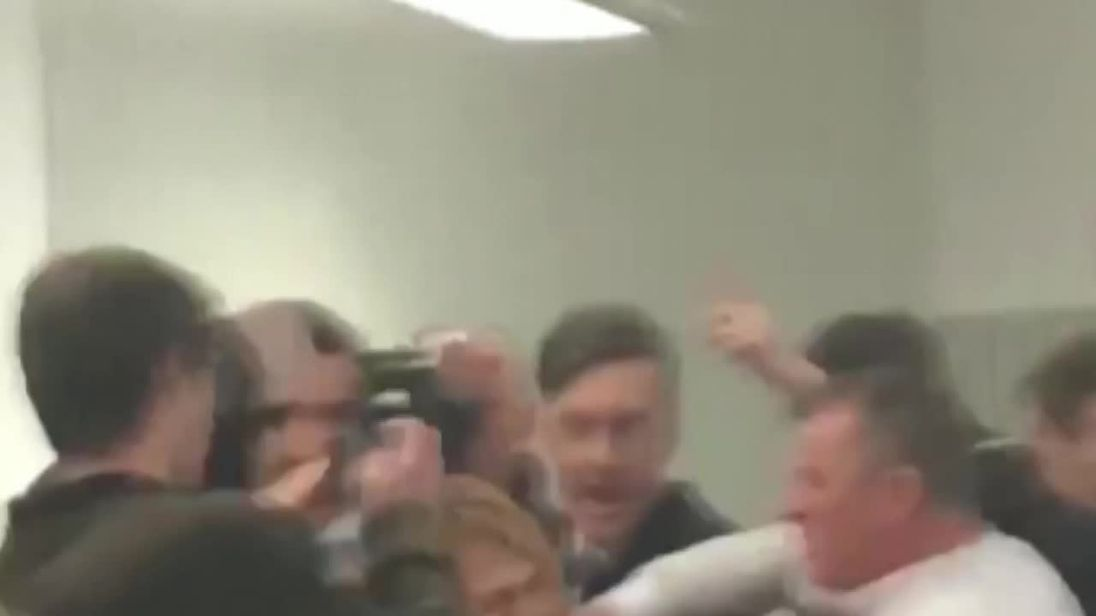 Scuffle at Rees-Mogg student event at UWE Bristol
