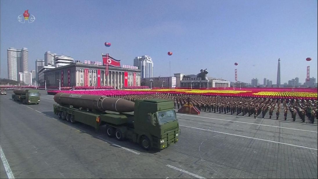 North Korea has held a military parade