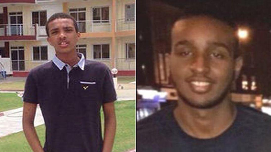 Abdikarim Hassan (left) and Sadiq AadamMohamed were found dead less than a mile apart