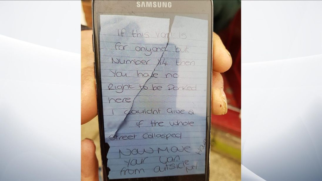woman charged over angry note on ambulance