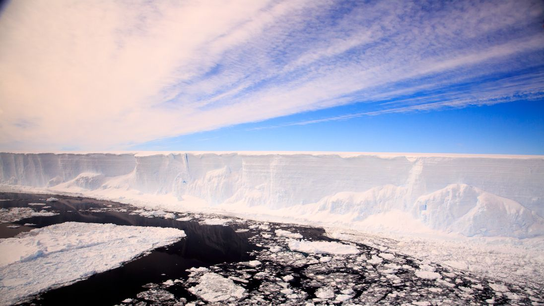 The Larsen Ice Shelf. Pic: British Antarctic Survey