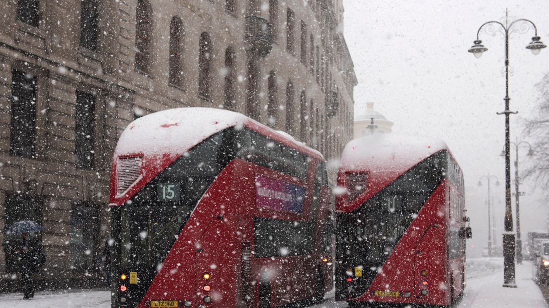 Travel disruption was widespread across London