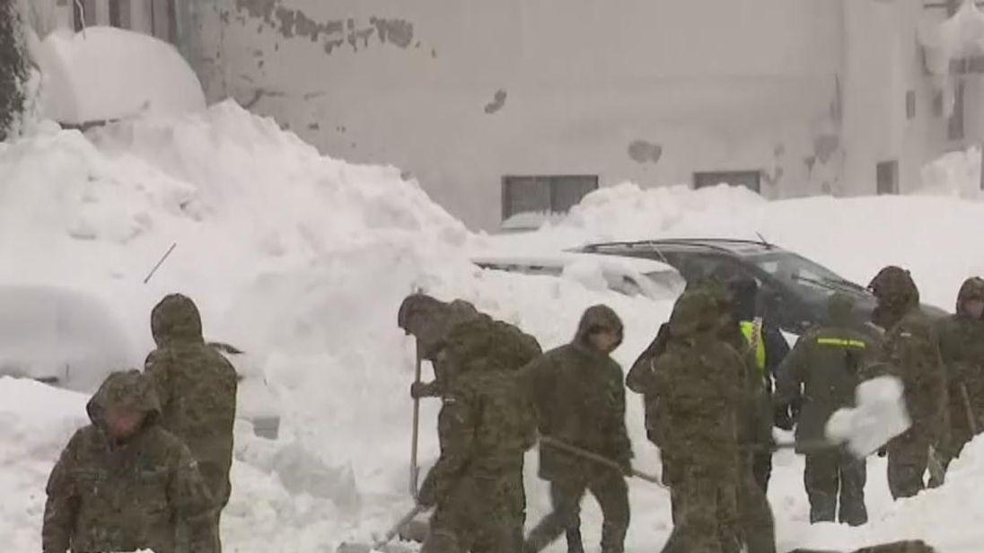 Croatia has been hit by heavy snowfall