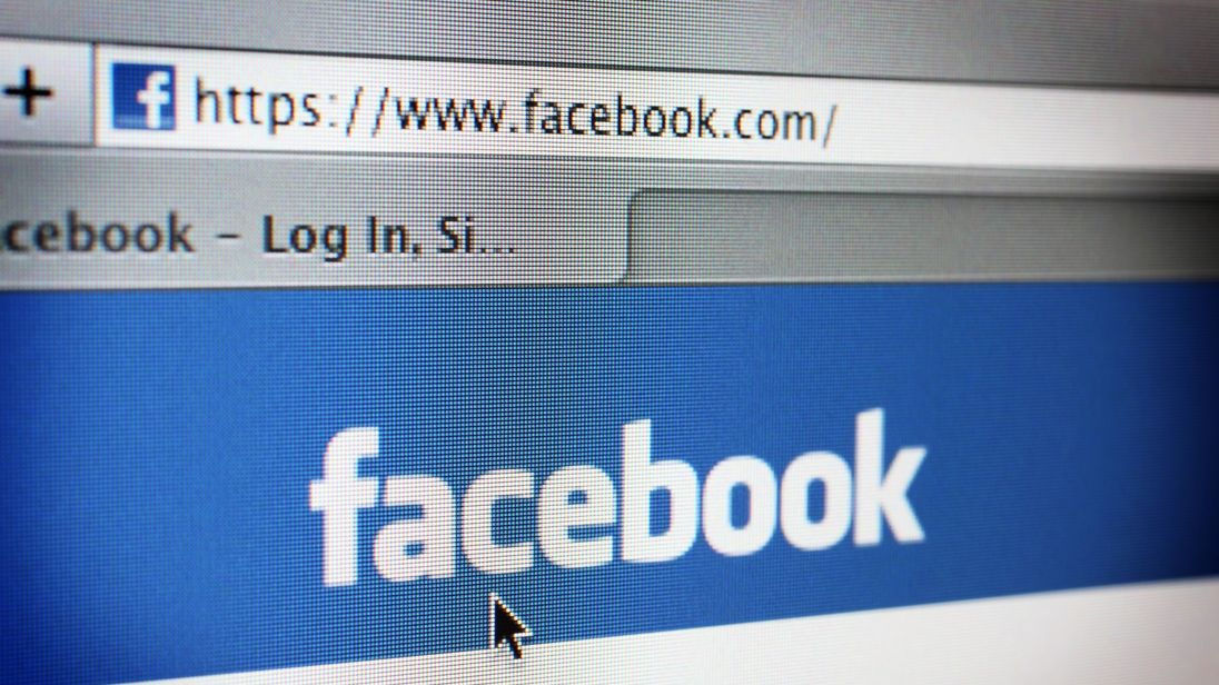 The login page of Facebook's website