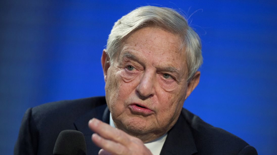 George Soros has hit back at critics over donation
