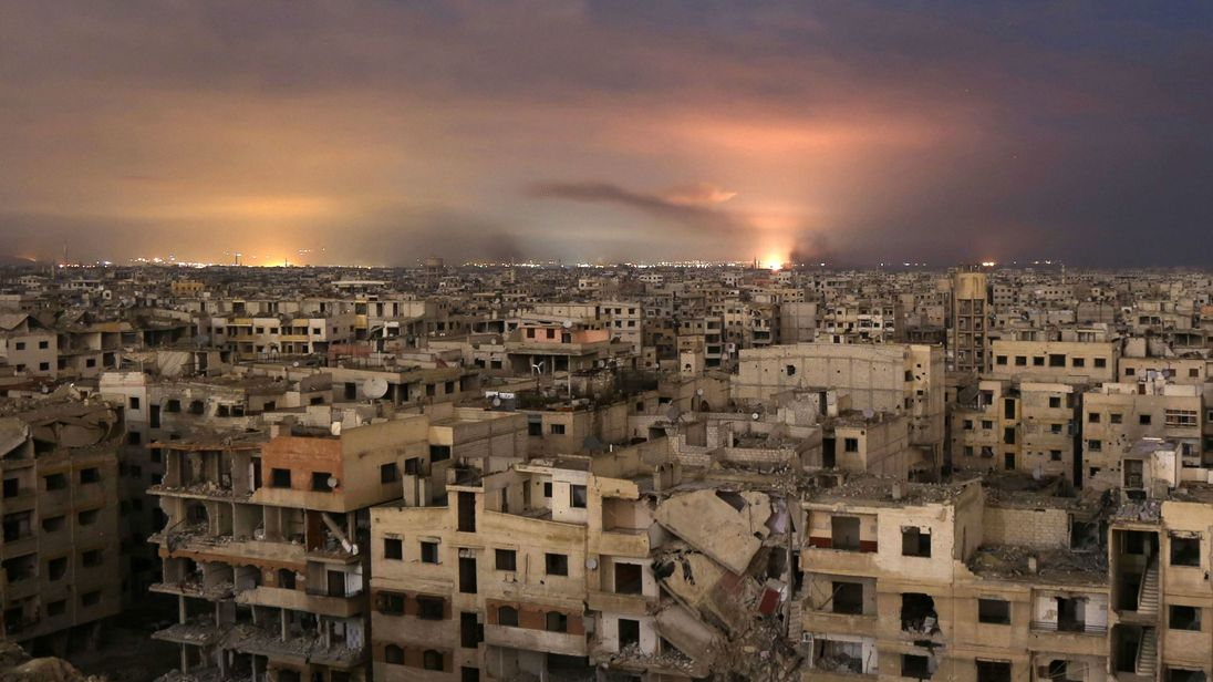 Bombing of Ghouta has been going on for a week