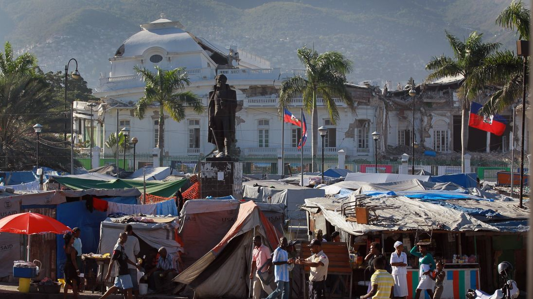 Aid agencies stepped in to help the thousands left homeless after the Haiti earthquake