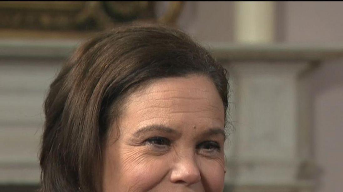 Sinn Fein leader Mary Lou McDonald