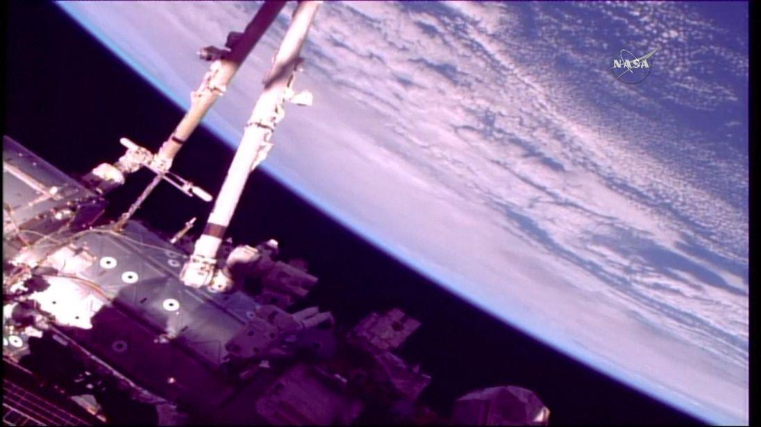 Astronauts spacewalk aboard ISS