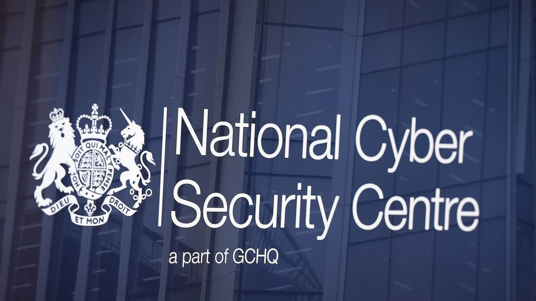 LONDON, ENGLAND - FEBRUARY 14: A logo is displayed on a television screen in the National Cyber Security Centre on February 14, 2017 in London, England. The National Cyber Security Centre (NCSC) is designed to improve Britain's fight against cyber attacks and act as an operational nerve centre. (Photo by Carl Court/Getty Images)