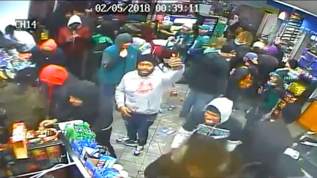 Philadelphia fans looting a store after their Superbowl win