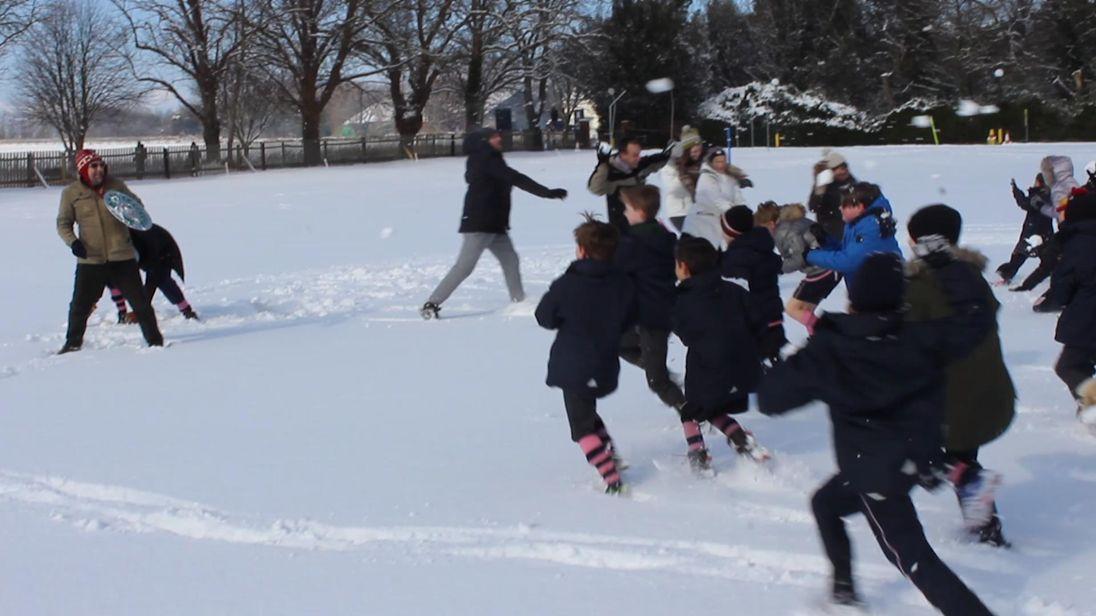 Alleyn Court Prep School Snowball fight