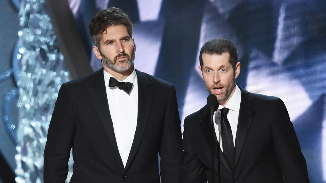 Game of Thrones creators David Benioff (l) and DB Weiss will write the new Star Wars films