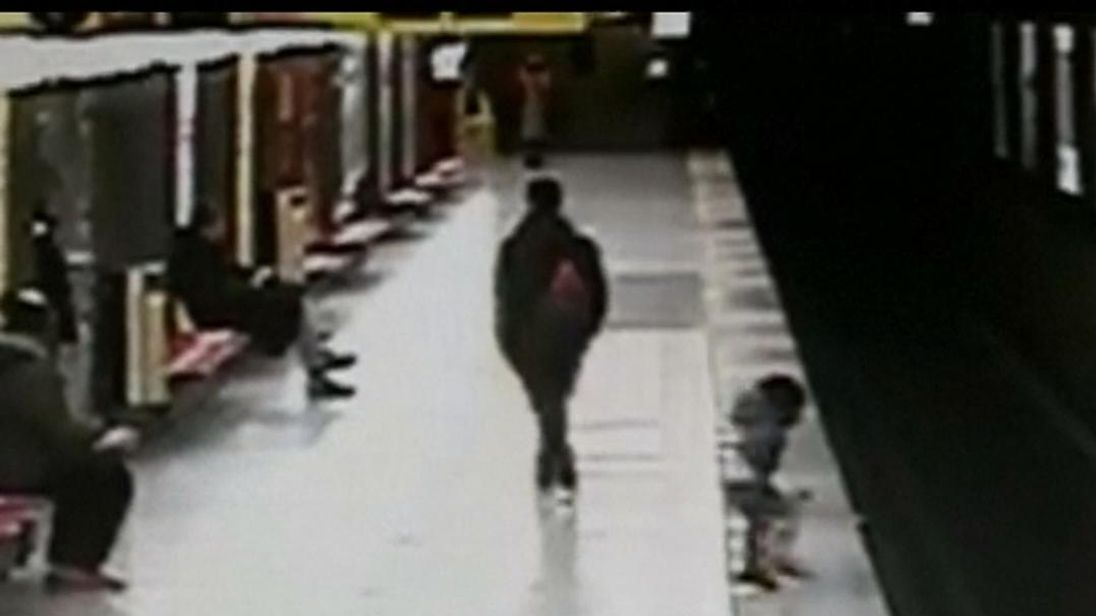 Two-year-old boy saved by teenager from metro train tracks
