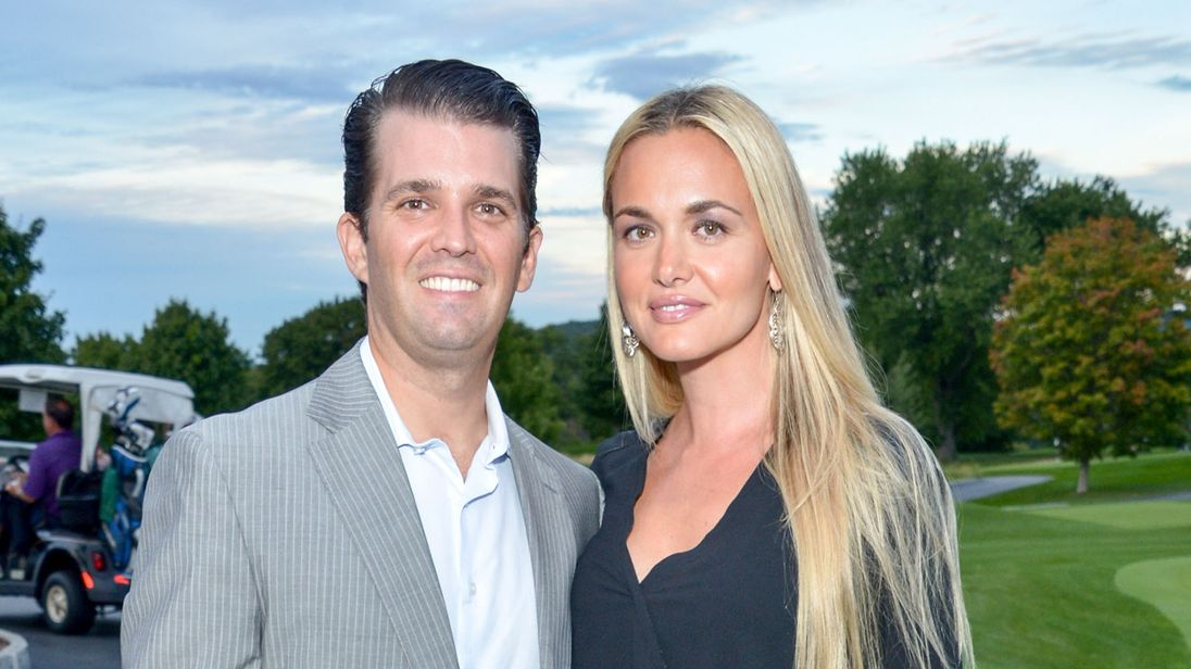Vanessa Trump pictured with her husband