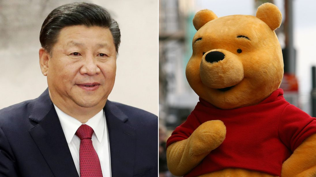 Chinese President Xi Jinping and Winnie The Pooh