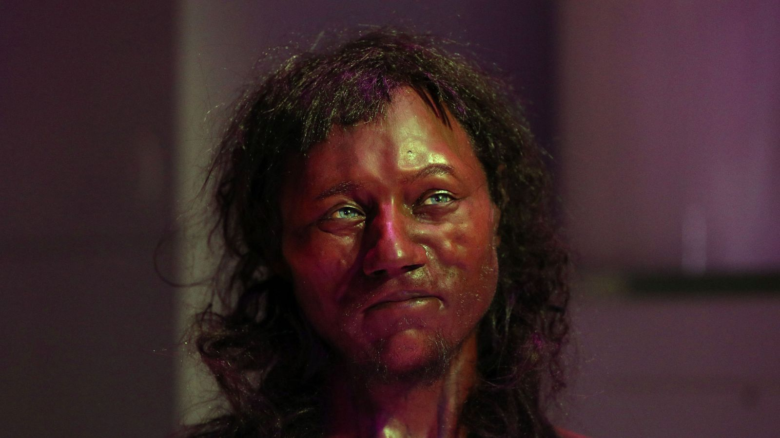 Cheddar Man: First modern Briton had dark skin and blue eyes, DNA analysis shows                                                                              The face of the man, who died more than 10,000 years ago, was reconstructed using DNA taken from bone powder in his inner ear.