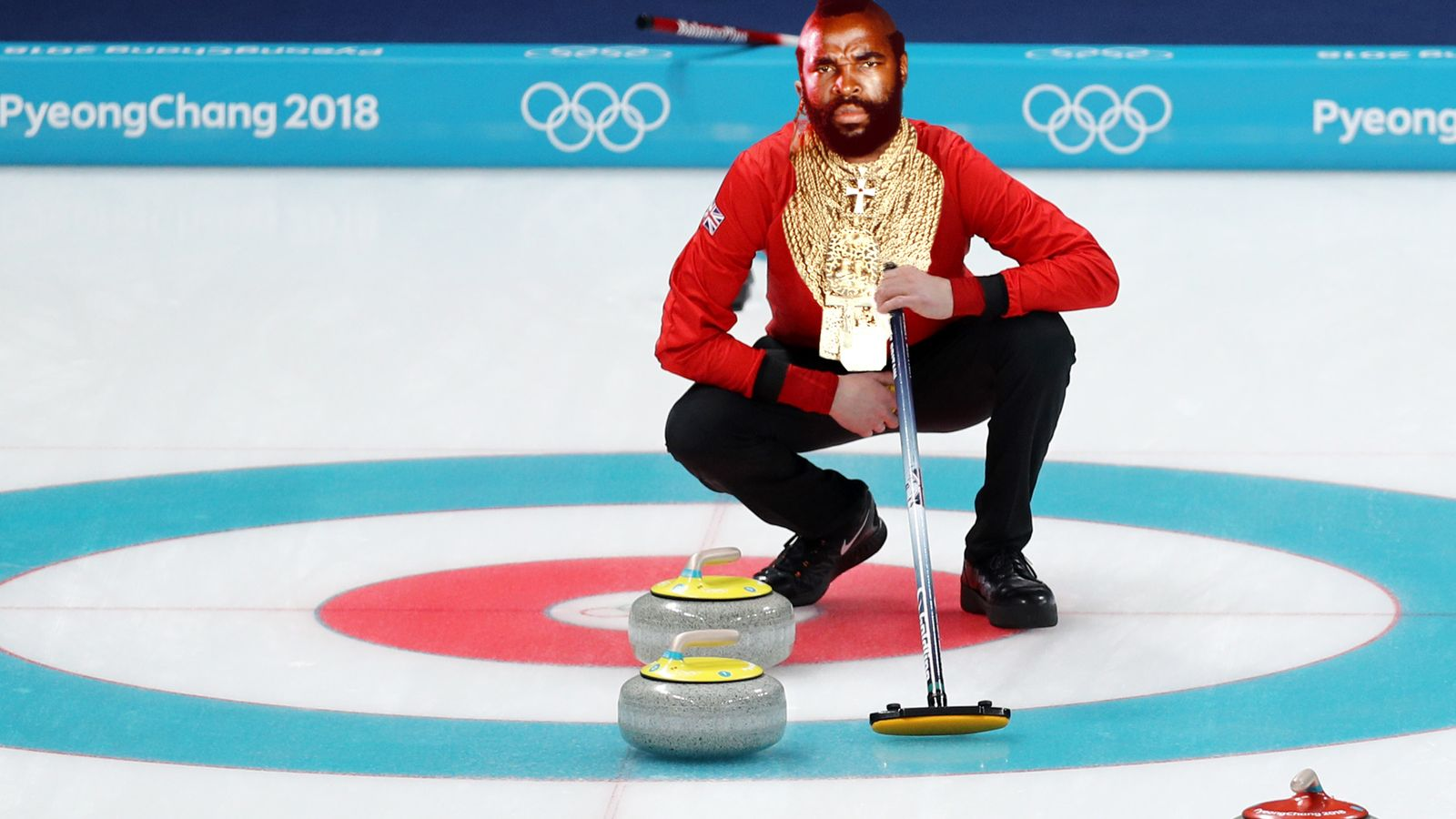 Don't get distracted by pants: Mr T's latest curling tip
