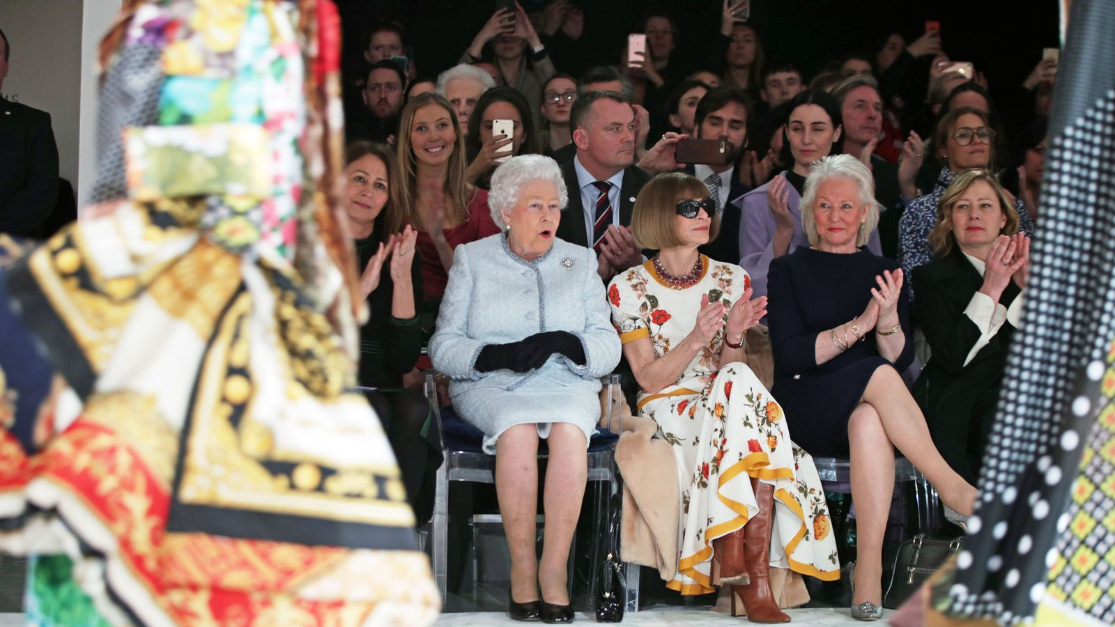 Queen Attends First London Fashion Week Front Row In