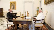 The Pope was meeting the Turkish President to speak about Turkish thoughts on Jerusalem