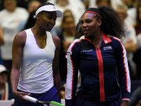 Serena played alongside sister Venus