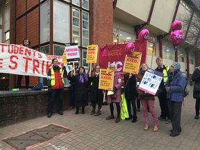 A strike is underway at Bristol University