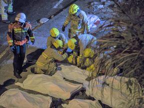 Bus crash in Hong Kong
