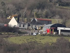 Emergency services at a house in Derrylin, Fermanagh