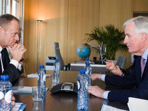 Donald Tusk and Michel Barnier