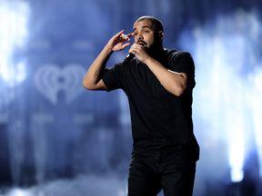 Drake performing in Las Vegas in 2016