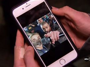 Ryan's delfie with Justin Timberlake. Pic: abc News