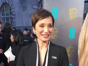 Kristin Scott Thomas says the ceremony is a great platform for the Time's Up campaign - rachel wood's pic