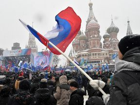 Last week, a rally was held in Moscow support of Russian athletes competing in the Olympics