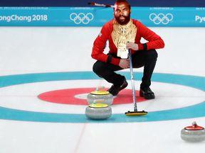 Mr. T, curling