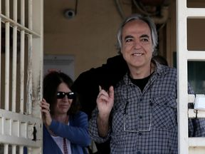 Dimitris Koufodinas, a leading member of guerrilla group November 17, as he left for his furlough in November