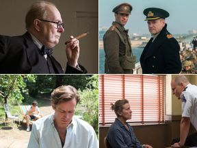 Darkest Hour, Dunkirk, Three Billboards Outside Ebbing Missouri, Call Me By Your Name