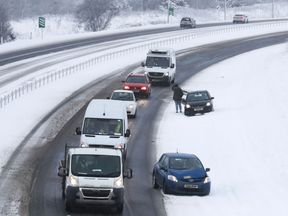 Motorists in Scotland faced disruption last month due to snow last month