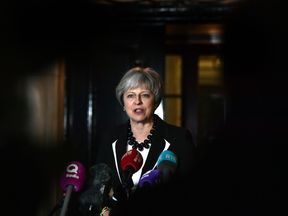 Theresa May in Belfast