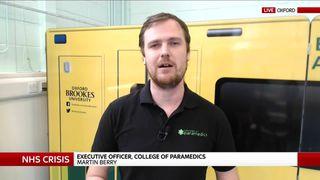 Executive Paramedic Officer Martin Berry